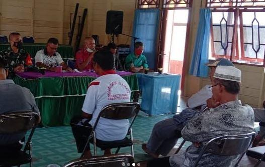 Koramil 1015-05/Tbh Menghadiri Rapat Kordinasi Rencana Pembangunan Kantor Kecamatan Baru