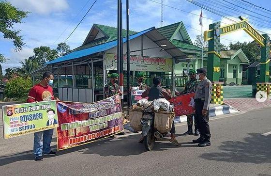 Koramil 1013-03/Teweh Tengah Bersama Polsek Teweh Tengah Sosialisasi Tentang Karhutla.