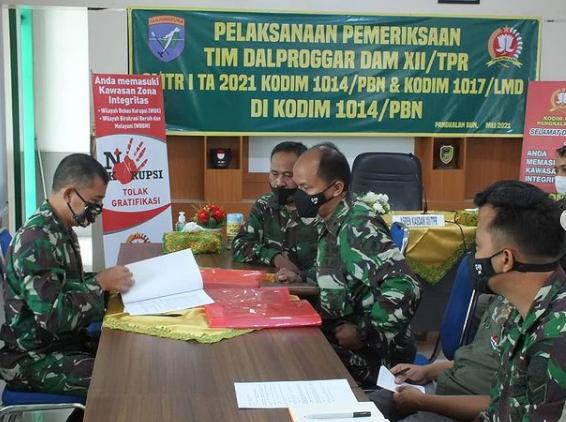 Tim Dalprog Kodam XII /Tanjungpura Kunjungan Kerja ke Kodim 1014 /Pbn
