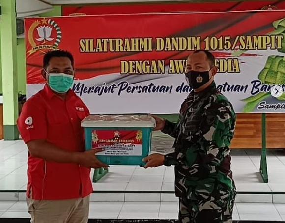 Bangun Kebersamaan, Dandim 1015/Sampit Silaturahmi Dengan Awak Media