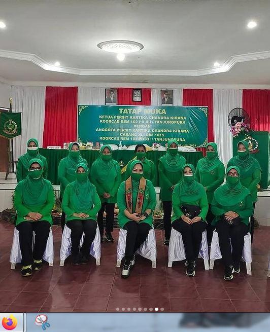 Kunjungan Ibu Ketua Persit KCK Koorcab Rem 102 PD XII/Tpr Di Kodim 1015/Sampit