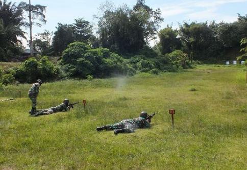 Tingkatkan Kemampuan Prajurit, Kodim Pangkalan Gelar Latihan Menembak