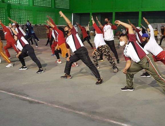 Danramil 1015-09/Baamang Hadiri Upacara Peringatan Hari Olahraga Nasional Ke XXXVIII TAHUN 2021