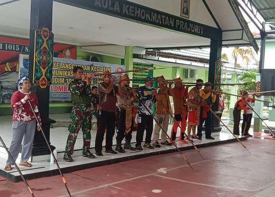 Lestarikan Olahraga Tradisional Kalimantan, Kodim 1015/Sampit Gelar Lomba Sumpit