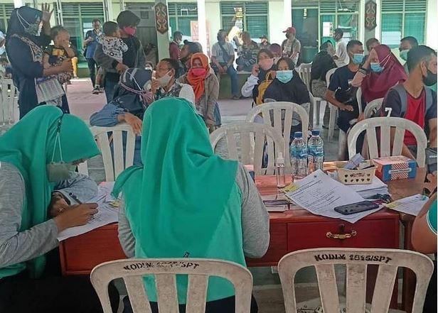 Kodim 1015/Sampit Gelar Vaksinasi, Dukung Percepatan Target Vaksinasi Wilayah Kabupaten Kotim