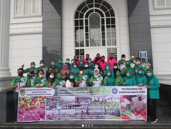 Persit Kartika Chandra Kirana Cab XXXIX DIM 1013 Ikut Memperingati Hari Pangan Sedunia
