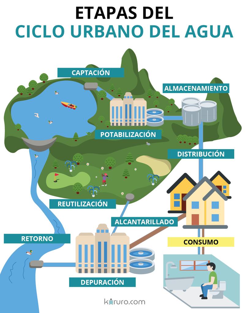 etapas del ciclo del agua en la ciudad