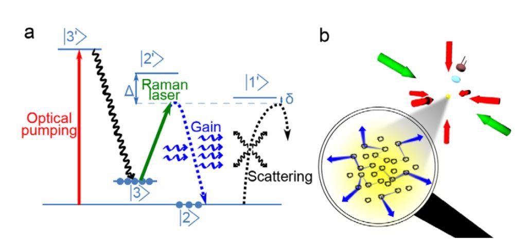 Схема работы случайного лазера, созданного французами.