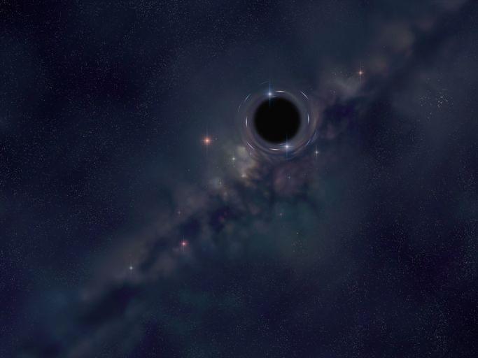 Чёрная дыра в представлении художника.