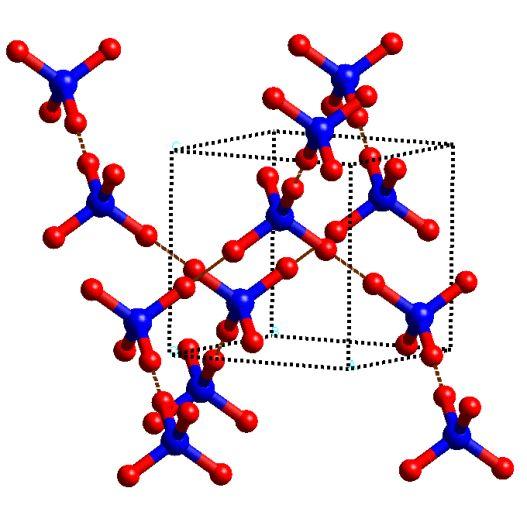 Кристаллическая структура льда VII