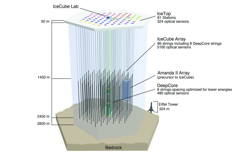 Схема работа обсерватории _IceCube_