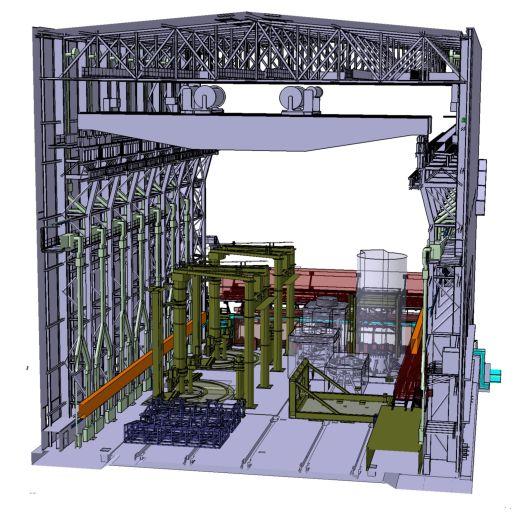 схема сборочного здания ITER