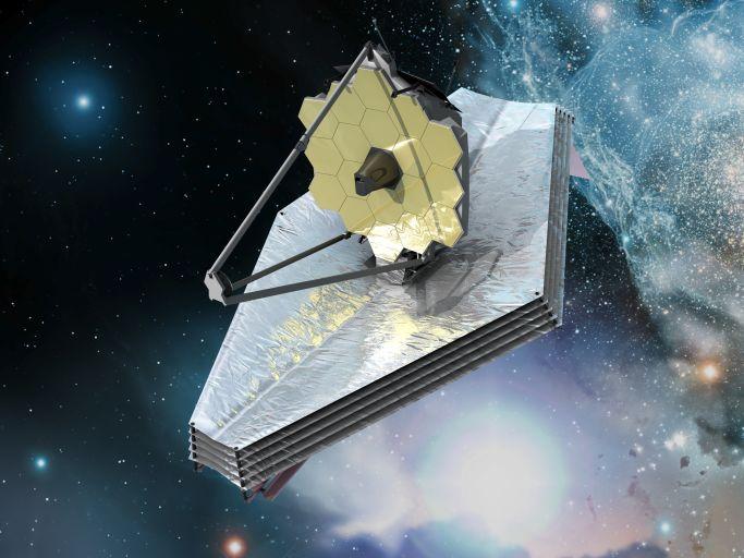 Космический телескоп Джеймса Уэбба глазами художника.