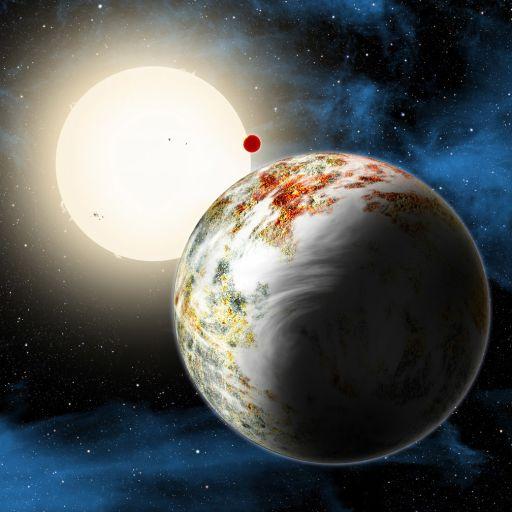 «Мегаземля» Kepler-10c глазами художника.