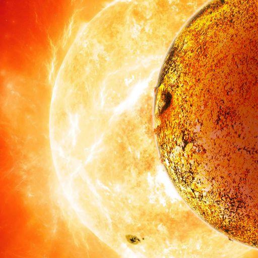 Наверное, Kepler-78b выглядит как-то так (взгляд художника).