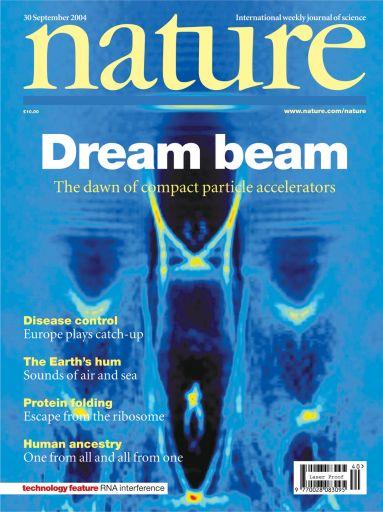Bubble-структура на обложке журнала Nature от 30 сентября 2004 года.