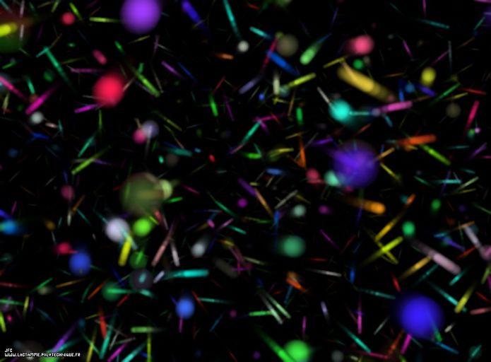 Речь пойдёт о квантовом вакууме. Так он выглядит в представлении художника.