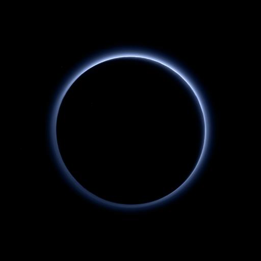 голубая атмосфера плутона