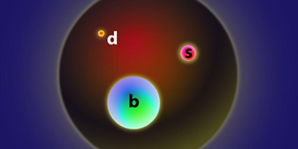 Схематическое кварковое строение открытых частиц