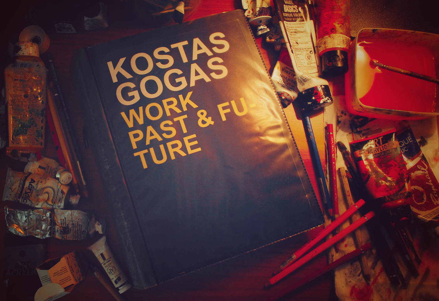Photo of Kostas Gogas' Art Blackbook.