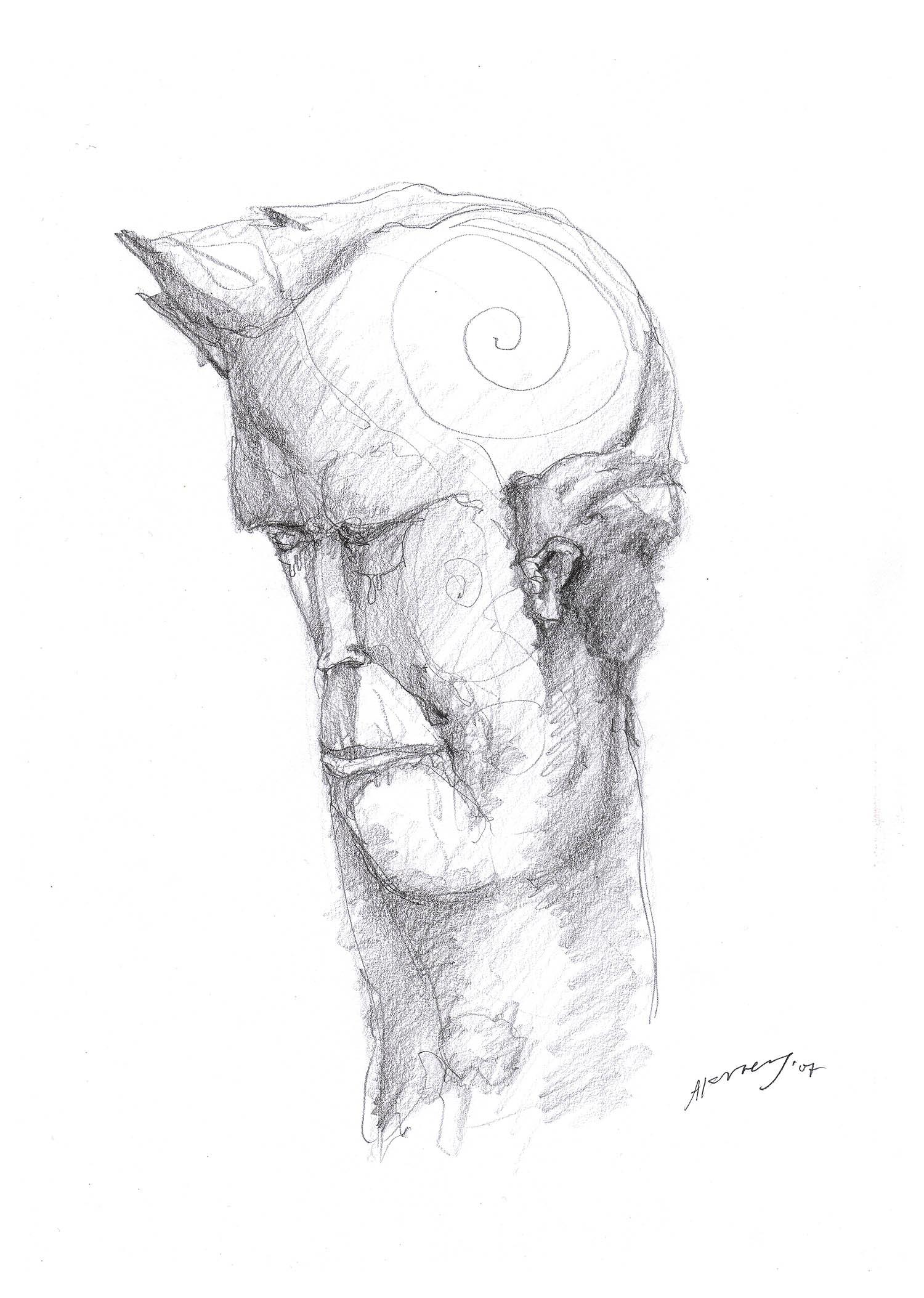 Aristocratic Long Portrait 3 by greek multidisciplinary artist Kostas Gogas