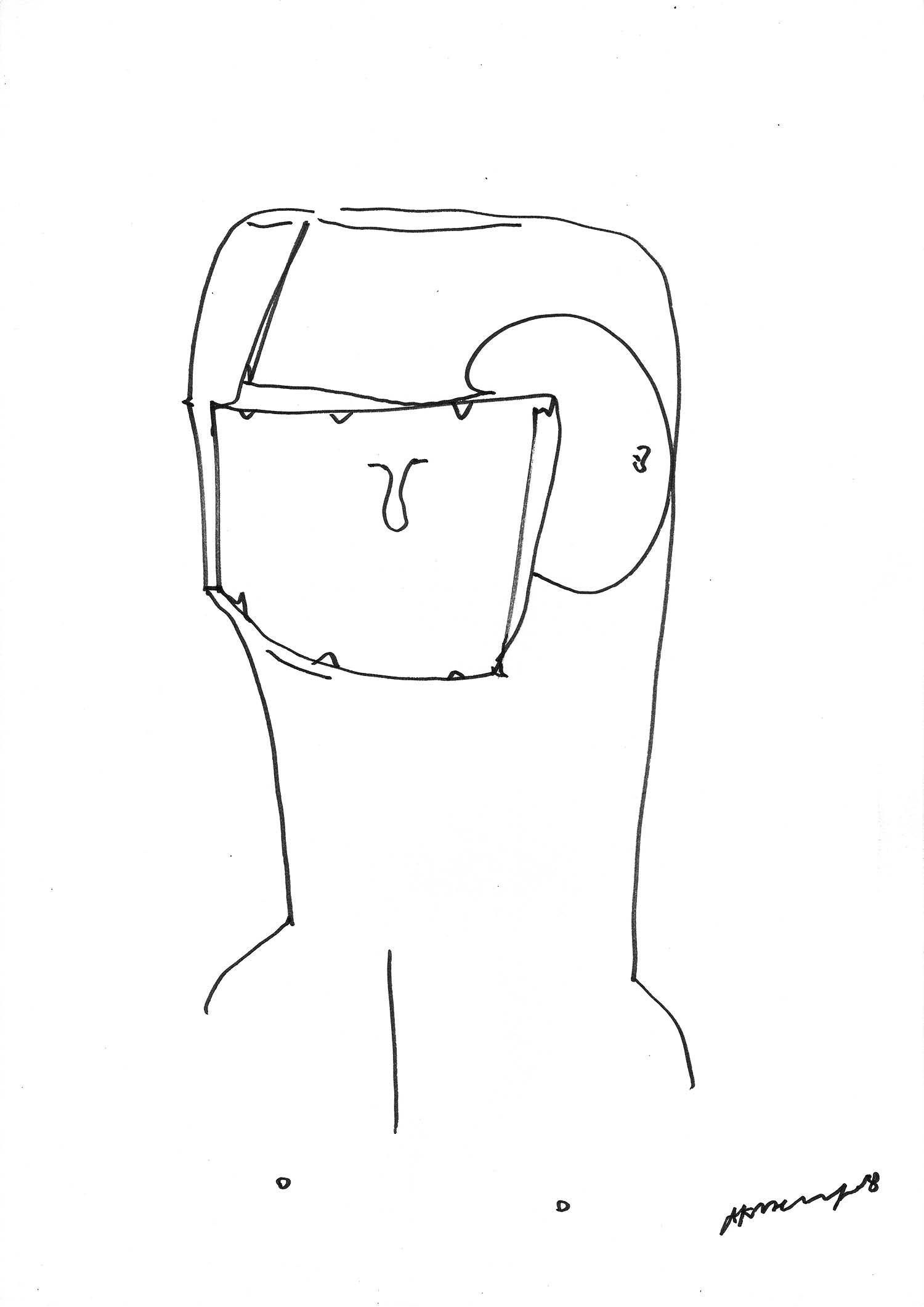 Blind Speaker (The Campaign) by greek multidisciplinary artist Kostas Gogas