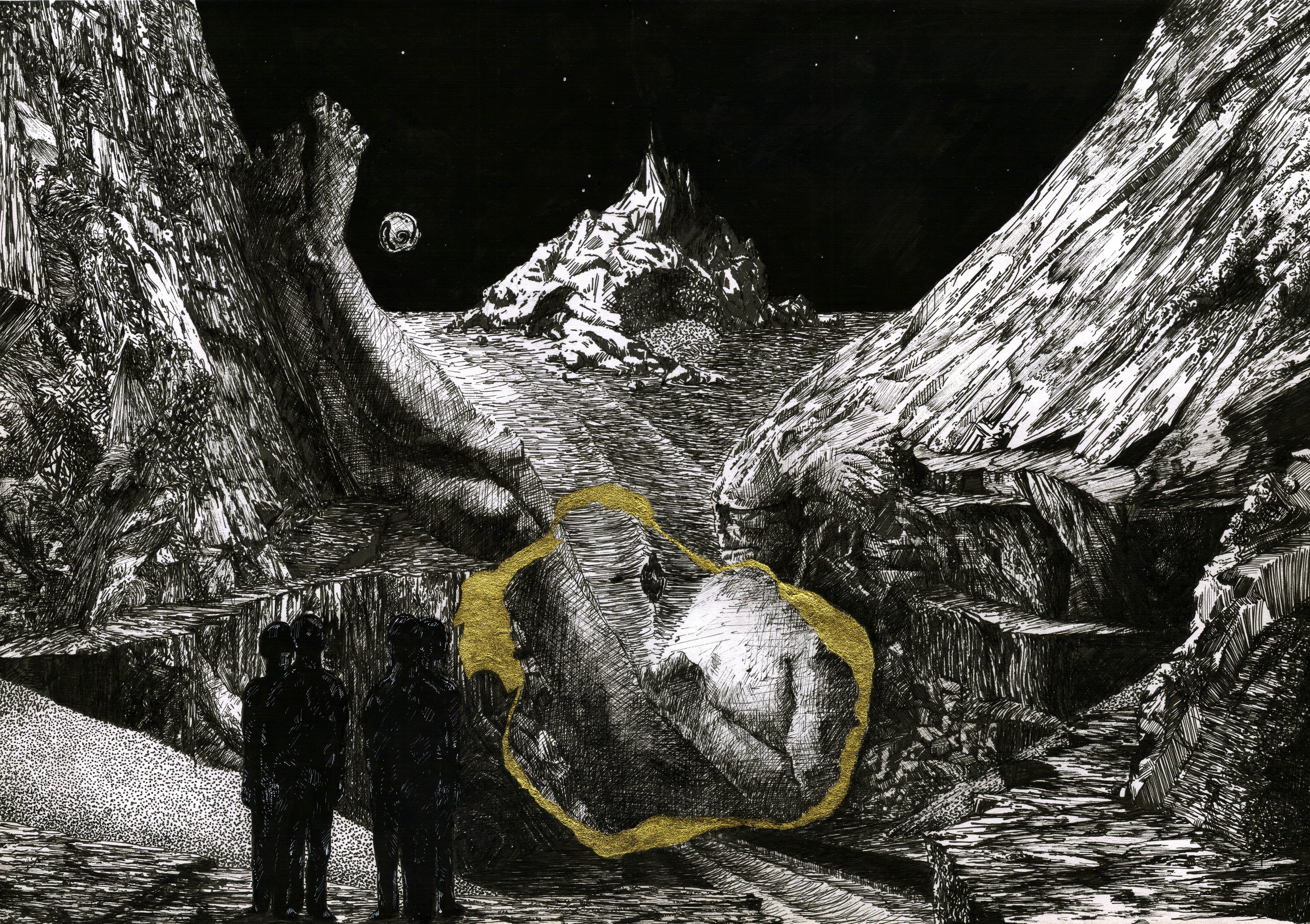 Myth, fantasy art drawing by Kostas Gogas