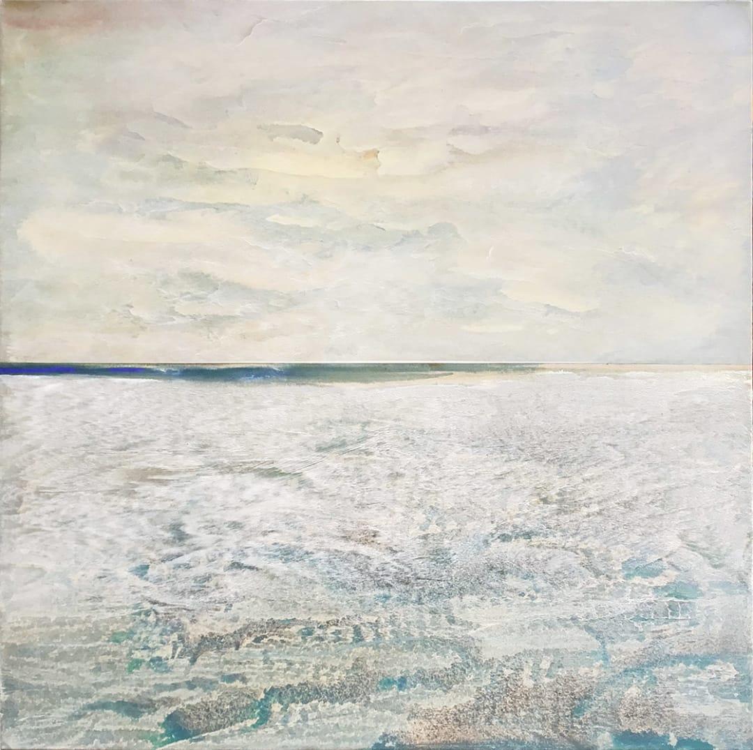 Sasha Rogers- Vanishing Point, 44 x 44 x 1.25 inches, 2020