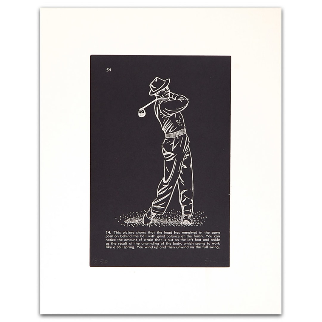 'Golf Lesson pg.54, 2000' - Bill McCarroll