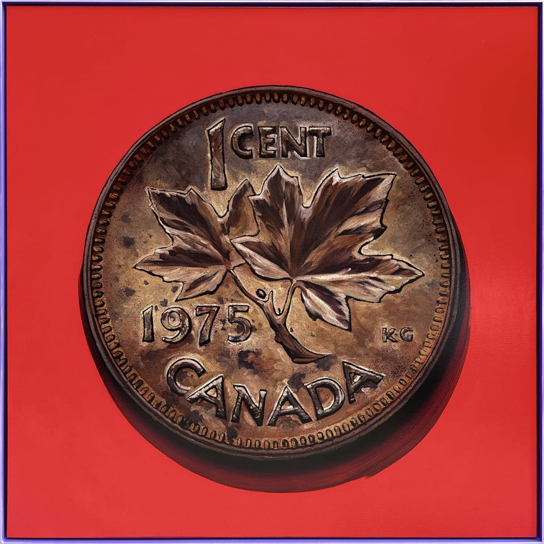 James Lahey- 1 Cent Portrait, 1975 (Made in Canada 3 - A Memoir)
