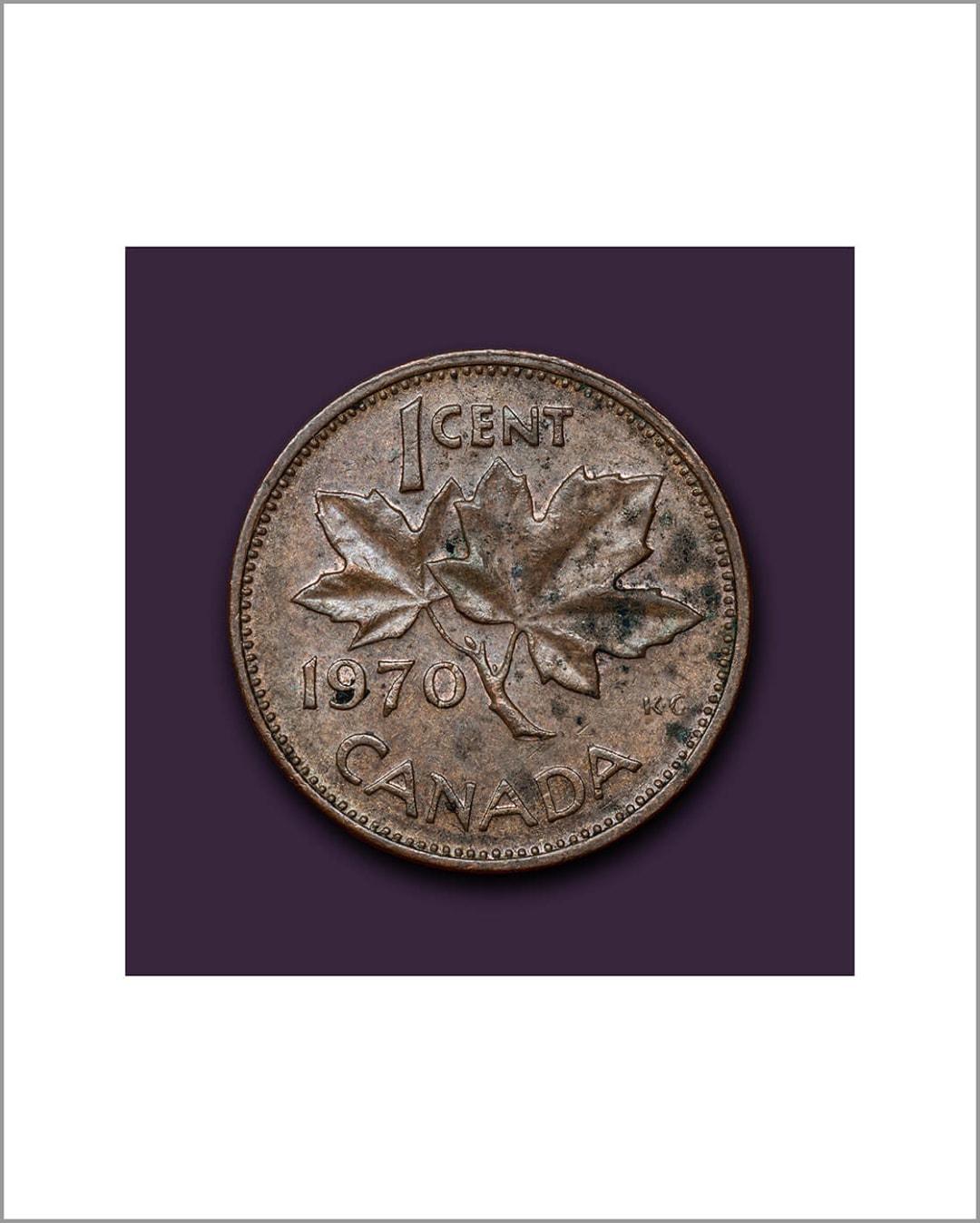 One Cent Portrait - 1970 - James Lahey