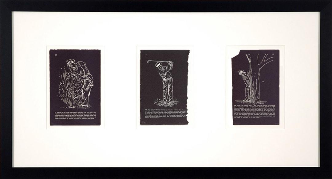 'Golf Lesson Triptych' - Bill McCarroll