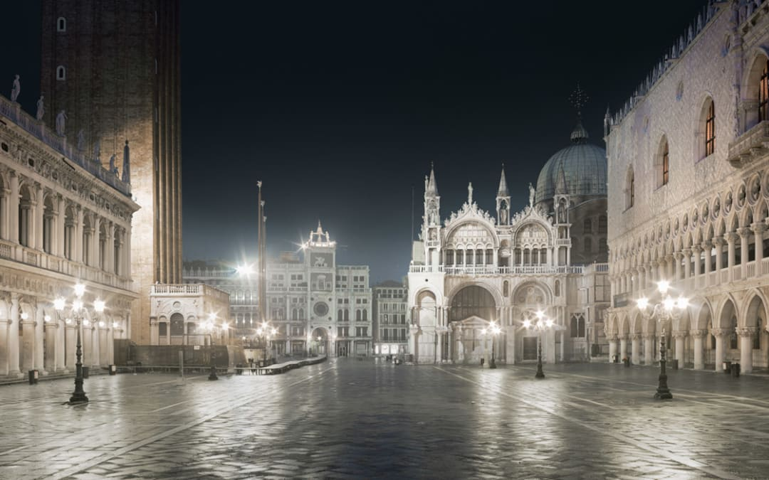 San Marco Night, Venice, Italy, 2012 (size 21 x 26 inches as part of the annual Silent Art Auction)