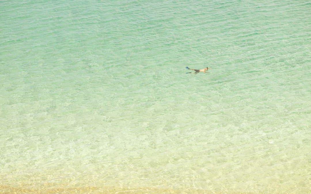 Snorkeler (After Misrach), Maui, Hawaii, 2011