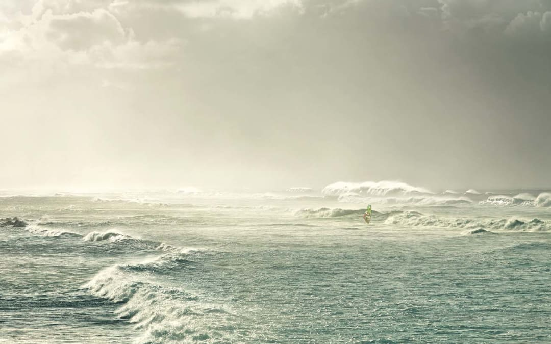 Windsurfer, Hookipa Beach, Hawaii, 2011