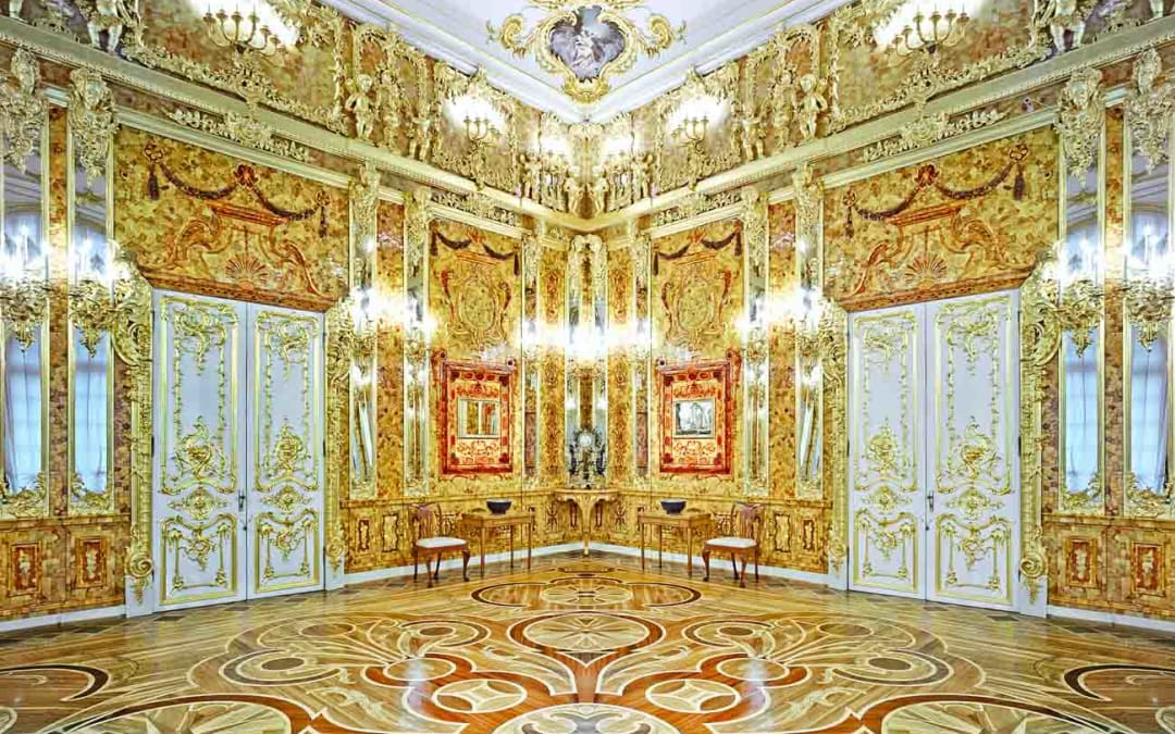 Amber Room, Catherine Palace, Pushkin, Russia, 2014