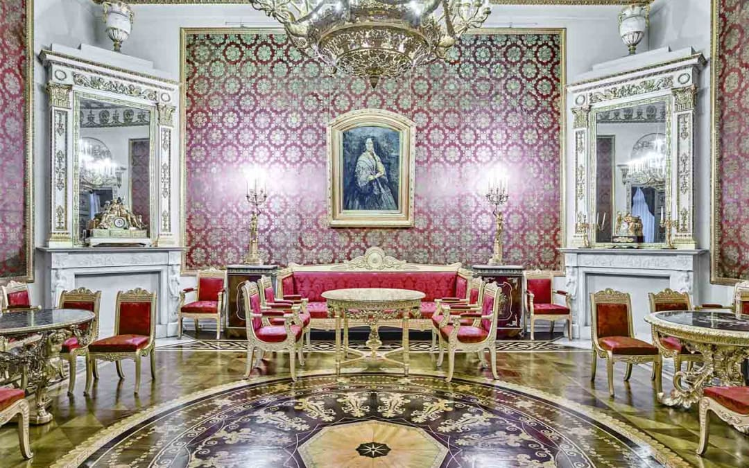 Red Room, Yusupof Palace, St. Petersburg, Russia, 2015