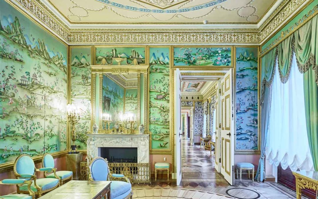 Blue Drawing Room, Catherine Palace, Pushkin, Russia, 2014