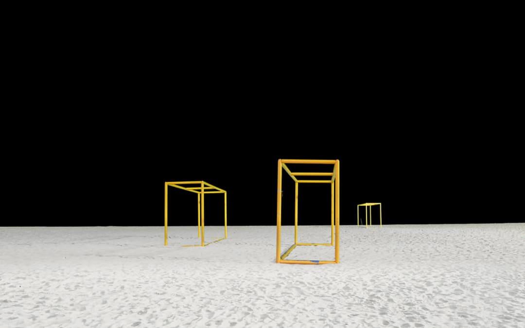 Goalposts I, Copacabana Beach, Rio De Janeiro, Brazil, 2013