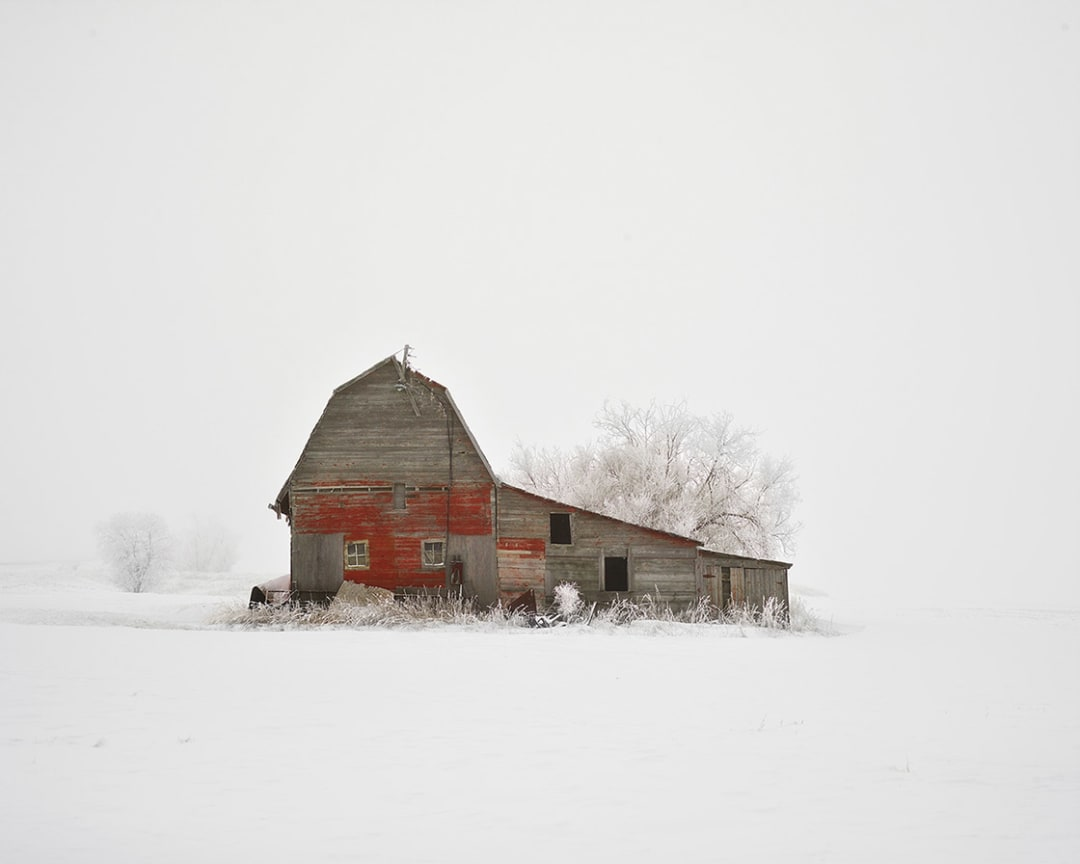 David Burdeny- Barn with Hoarfrost, Saskatchewan, CA, 2020