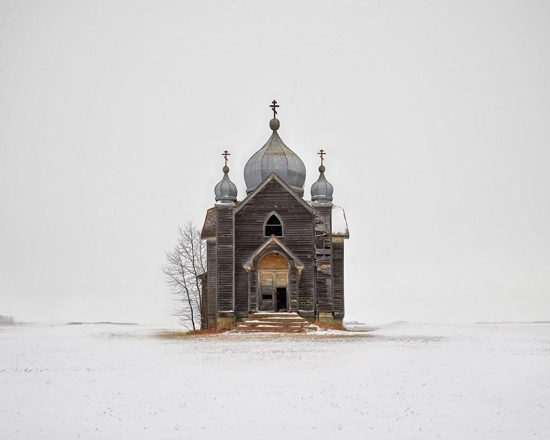David Burdeny- Weathered Church, Saskatchewan, CA, 2020