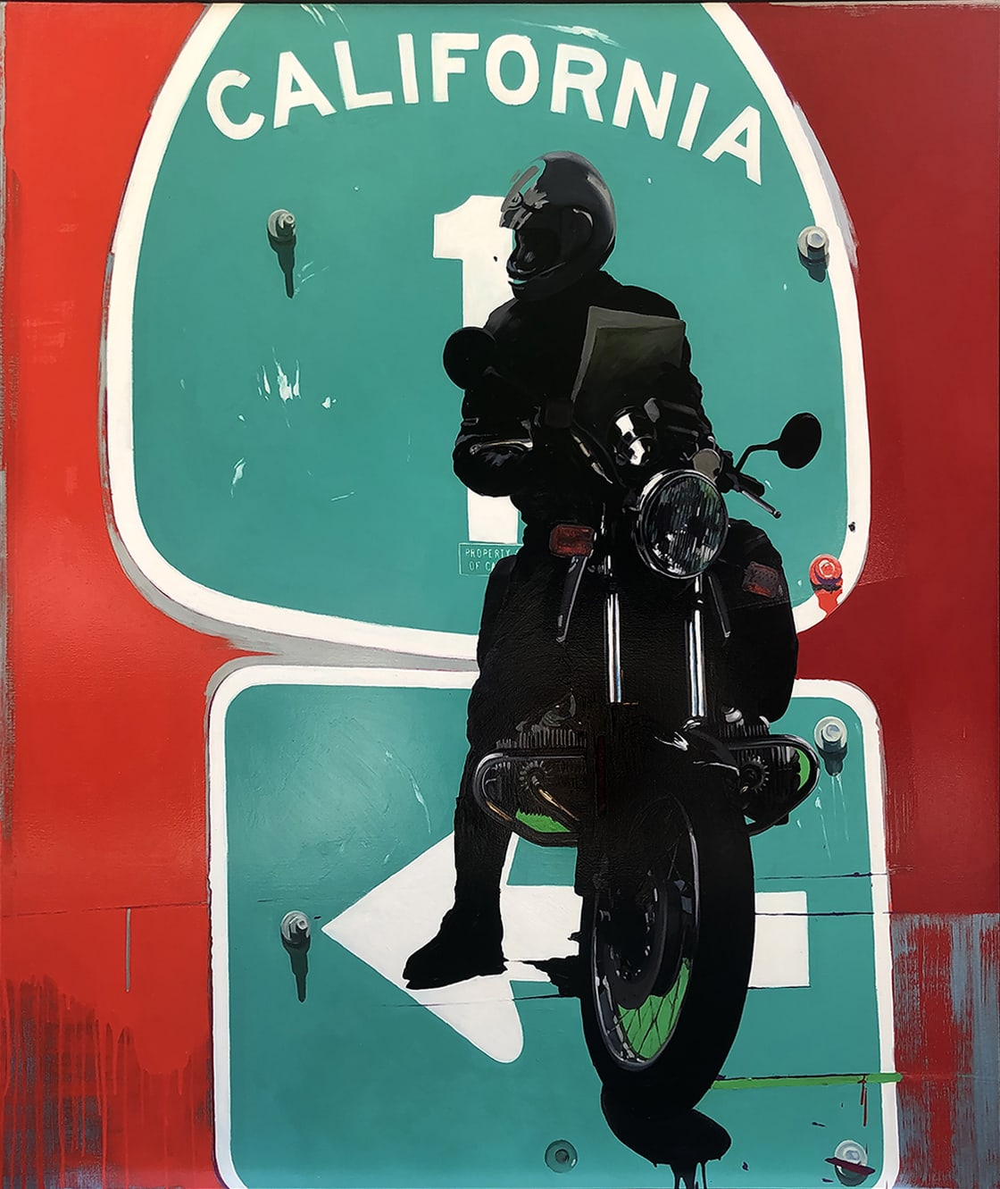 'California, US 1 at Route 66(Red Rider Looking North)' - James Lahey at Kostuik Gallery