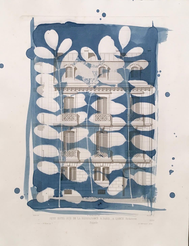 'Petit Hotel A Paris', 14 x 10.75, 2020 - Dianne Bos at Kostuik Gallery