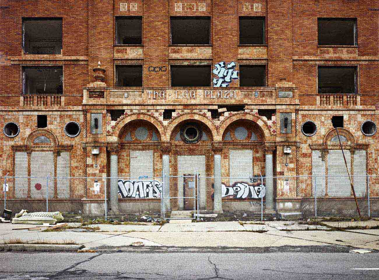 'Lee Plaza Hotel Exterior' - Philip Jarmain at Kostuik Gallery