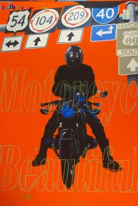 Orange Rider, Motorcycle Beautiful (Navigating Man, From Eight Days)