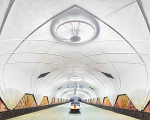 Aeroport Metro Station, Moscow, Russia, 2015
