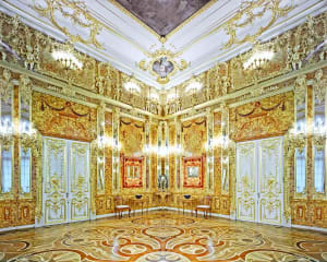 Amber Room, Catherine Palace, Pushkin, Russia, 2014