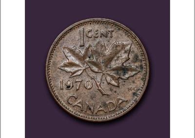 James Lahey – One Cent Portrait – 1970