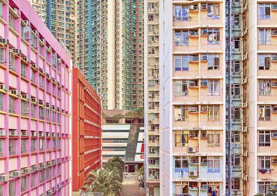 Pastel Facades, Hong Kong, 2013