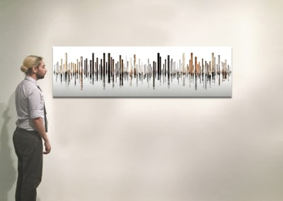 "Laguna 4, Italy, 29.5"" x 106"", Installation - Georg Kuettinger"